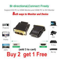 DVI MALE to HDMI FEMALE Adapter Converter Bi-Directional 18+1 Pin