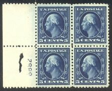 U.S. #504 Mint NH BLOCK - 1917 5c Blue ($72)