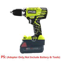 1Pcs RYOBI 18V Cordless Tools Adapter Uses Milwaukee 18V M18 RED Slide Battery