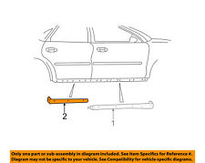 FORD OEM Exterior-Rocker Panel Molding Trim Left 1F1Z54101A05AAA