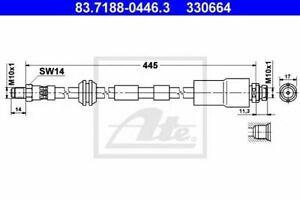 Flexible de frein FORD MONDEO III (B5Y) MONDEO III  (B4Y) MONDEO III Break (BWY)