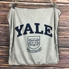 "YALE Gray Sweatshirt PILLOW COVER Decor Gift 21"" Sq LUX ET VERITAS IVY LEAGUE"