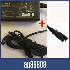 POWER SUPPLY FOR EPSON A411E A411B AC CHARGER ADAPTER + FIGURE 8 POWER CABLE