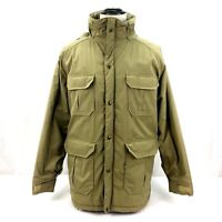 Woolrich Jacket  Mens Large Vintage Tan Pockets Made in USA Nylon-filled