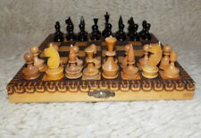 Vintage wooden Chess~old 50s~Wooden Chess~Full Set~Chess Travel #710201