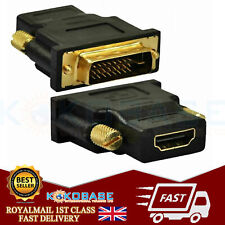 DVI Male to HDMI Female Gold Plated Connector Adapter Converter (DVI-I 24+5 Pin)