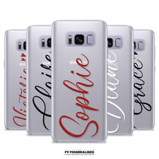 PERSONALISED NAME HEARTS CLEAR SOFT CASE COVER FOR SAMSUNG GALAXY S8 S9 S10 PLUS