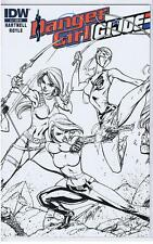 Danger Girl GI Joe 3 RI Campbell Sketch