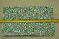 "By 1/2 Yd, 37"" Wide, Vintage 1940's-60's, Blue & Lavender on White Cotton, M3143"