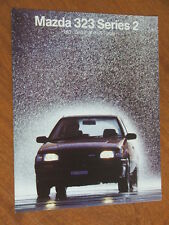 1987 Mazda 323 series 2 including SS Turbo original Australian 16 page brochure