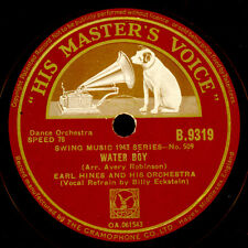 EARL HINES & ORCH. Water Boy / Windy City Jive  Schellackplatte   78rpm X3230