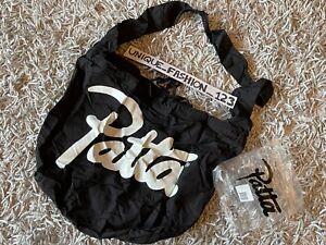 PATTA PACKABLE BLACK TOTE BAG FOLDABLE SHOPPER SHOPPING SCRIPT LONDON OPENING
