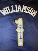 zion williamson autographed jersey Nike COA