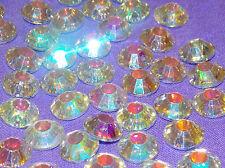 sew on stitch on CLEAR AB 10x jewel 12mm GEM CRYSTAL RHINESTONE trim DANCE