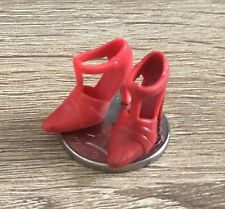 1:12 Scale Pair Of Red Ladies Plastic Shoes Tumdee Dolls House Miniature P2