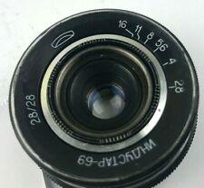 INDUSTAR 69 Vintage LEICA m39 28mm f/2.8 Pancake Lens Nice Soviet USSR