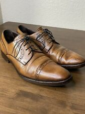 ermenegildo zegna Mens Dress Shoes US11 Brown Leather Made In Italy Oxford