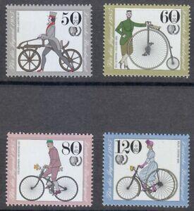 Germany 1985 MNH Mi 1242-1245 Sc B630-B633 Antique Bicycles **