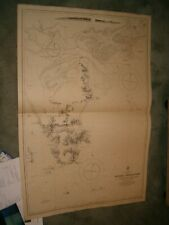 Vintage Admiralty Chart 1703 AUSTRALIA - VICTORIA - WILSON PROMONTORY 1871 edn