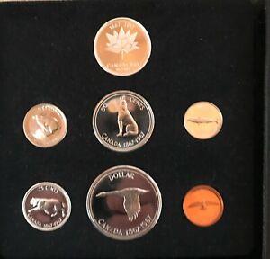 1967 Canada 7 Coin Centennial Proof-Like Set w/ Original Box + Silver Canada 150