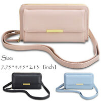 Ladies Women Girls Zipper Leather Phone Shoulder Bag Crossbody Wallet Purse Case