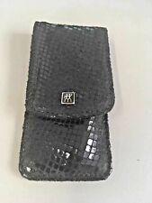 Zwilling J. A. Henckels Manicure Set 3pcs,Black Geometric pattern leather case