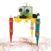Creative DIY Electric Doodle Robot Model Building Kits Science Experiments Tool