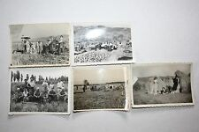 Vintage Photographs Lot of 5 Black White Harvest