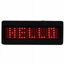 """Red LED Scrolling Battery Powered Name Badge Tags - LED 3"""" x 1-1/4"""""""