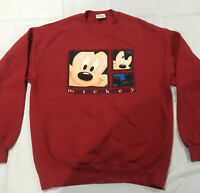 Disney Store Classic Mickey Mouse Mens Sweatshirt sz Medium M Red Pullover