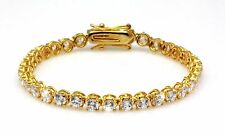 Exquisite Tennis Bracelet Cubic Zirconia CZ 18K Gold GP Bridal Wedding | Formal
