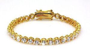 Exquisite Tennis Bracelet Cubic Zirconia CZ 18K Gold GP Bridal Wedding   Formal