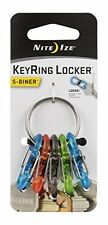 Nite Ize S-Biner Key Ring with 6 Coloured Plastic S-Biners KRG2-11-R3