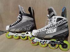 Roller Hockey Skates_Mission Inhaler Ac4, Sr. 8.5Ee_w/Extras; Rare; Good-Vg !
