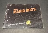 Nintendo NES Super Mario Bros. Instruction Manual Booklet