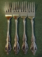 Oneida Community Brahms Stainless Steel Salad Forks Lot Of 4