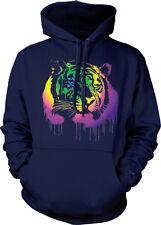 Tiger Spray Paint Dripping Cat Rainbow Colors Jungle Predator Hoodie Sweatshirt