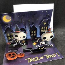 HALLOWEEN 3D POP-UP GREETING CARD Skeleton Bag Of Bones By Pop Greetings