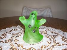 FENTON HALLOWEEN GREEN SATIN GLASS GHOST