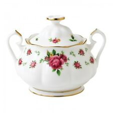 Royal Albert NEW COUNTRY ROSES WHITE Vintage Formal Sugar Bowl # 8702025865