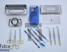 PRF Box GRF System Platelet Rich Fibrin Set Titanium Blue Coated surgery Set