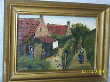 Antique Dutch Original Oil On Canvas Painting Artist Signed