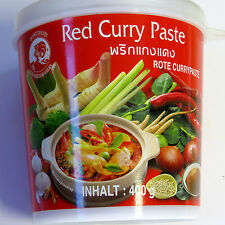 (1kg=9,73€) Rote Thai Currypaste 400g - Cock Curry Paste