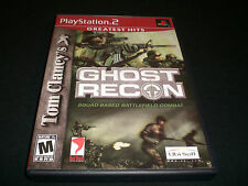"Tom Clancy's Ghost Recon ""Great Condition"" (PlayStation 2) Complete  PS2"