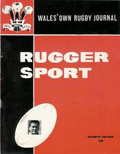 RUGGER SPORT - WELSH RUGBY MAG, JAN 1962, 7th ED - BRIDGEND, CWMGWRACH & WALES
