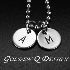 Personalised Necklace Couple Initial Names Birthday Valentine's Day Gift D106