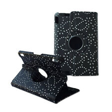 """360 Rotating Crystal Diamond Folding Cover Case Black for Kindle Fire HDX 7"""""""