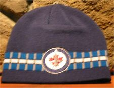 NHL OLD TIME HOCKEY WINNIPEG JETS Knit Winter Hat Beanie Toque Navy Blue