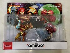 Amiibo Samus Aran & Metroid Nintendo Brand New Sealed 2 Pack