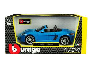 PORSCHE 718 BOXTER CABRIOLET 1:24 scale diecast model die cast racing car models